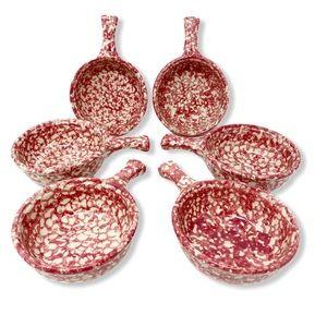 Bean Pots Soup Tapas Bowls Small Ceramic Coral (6)